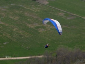 Gliding with experienced pilot Fred.
